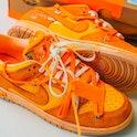 "@iwearsnkrs Off-White ""The 50"" custom Nike Dunk"