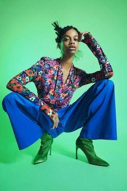 Model wears Zara boots.
