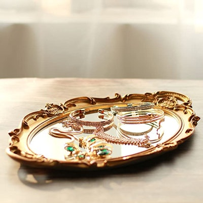 Zosenly Decorative Mirror Tray