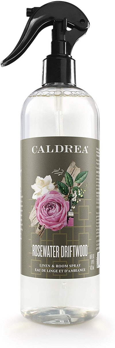 Caldrea Rosewater Driftwood Linen And Room Spray, 16 Oz