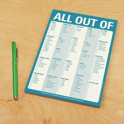 Knock Knock All Out Of Pad Grocery List
