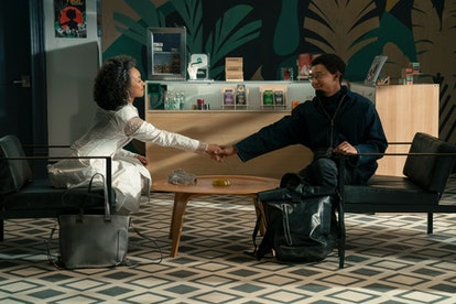 LOGAN BROWNING as SAMANTHA WHITE and DERON HORTON as LIONEL HIGGINS in the final season of 'Dear Whi...
