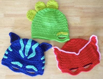 PJ Mask crochet pattern masks