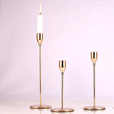 SUJUN Taper Candle Holders (Set of 3)