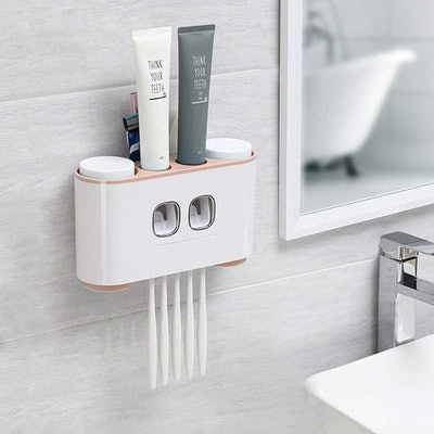 WREWING Multi-Function Wall-Mounted Toothpaste Dispenser