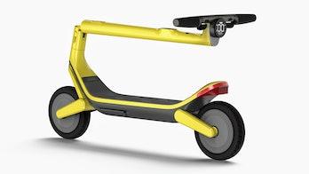 Unagi Model Eleven e-scooter in yellow