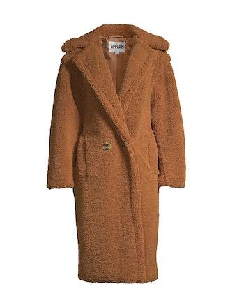 Daryna faux shearling camel teddy coat from APPARIS.