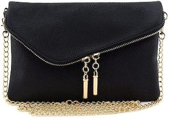 FashionPuzzle Envelope Crossbody Bag with Chain Strap
