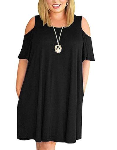 Kancystore Cold Shoulder Dress