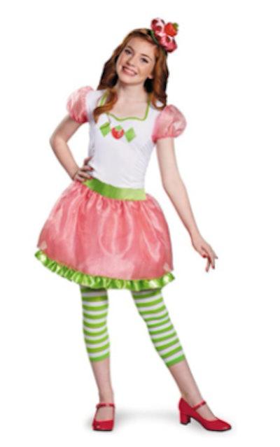 Strawberry Shortcake Halloween costume for tweens