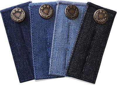 ZEFFFKA Denim Waist Extender Buttons (4-Pack)