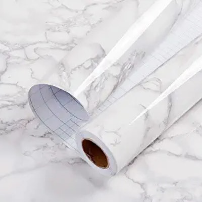 practicalWs Glossy Marble Contact Paper