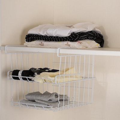 Lonian Stackable Under-Shelf Hanging Basket (2-Pack)
