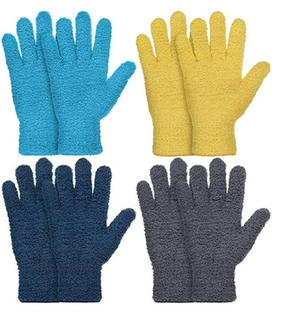 Patelai Dusting Cleaning Mittens (4-Pack)