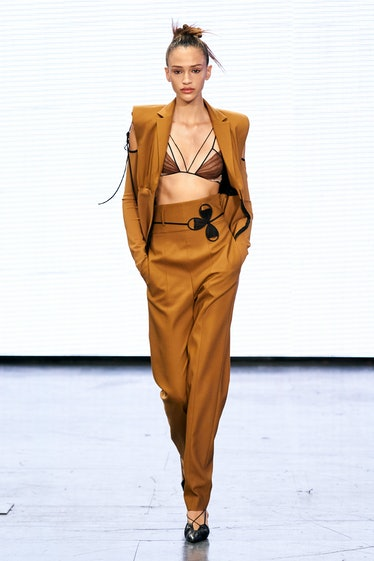 A look from Nensi Dojaka's spring 2022 collection