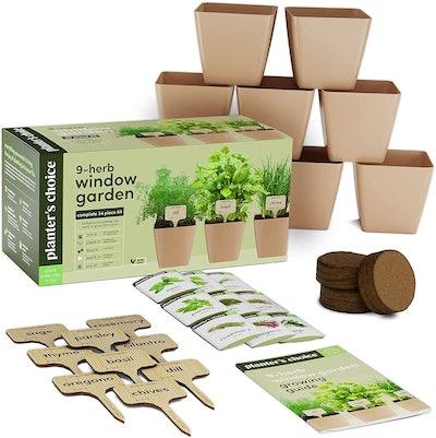 Planters' Choice 9 Herb Window Garden