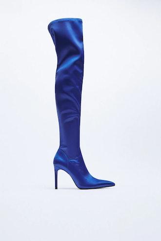 Tall Shaft Heeled Boots Zara