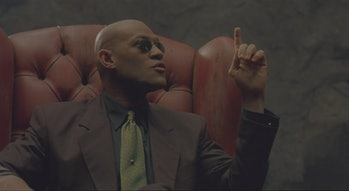 Morpheus telling Neo about Operation Dark Storm in The Matrix.