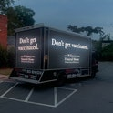 Wilmore Funeral Home fake anti-vax van ad photo from BooneOakley