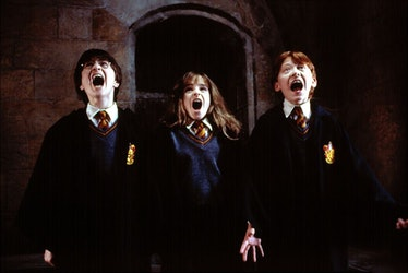 Daniel Radcliffe, Emma Watson and Rupert Grint in Harry Potter and the Sorcerer's Stone