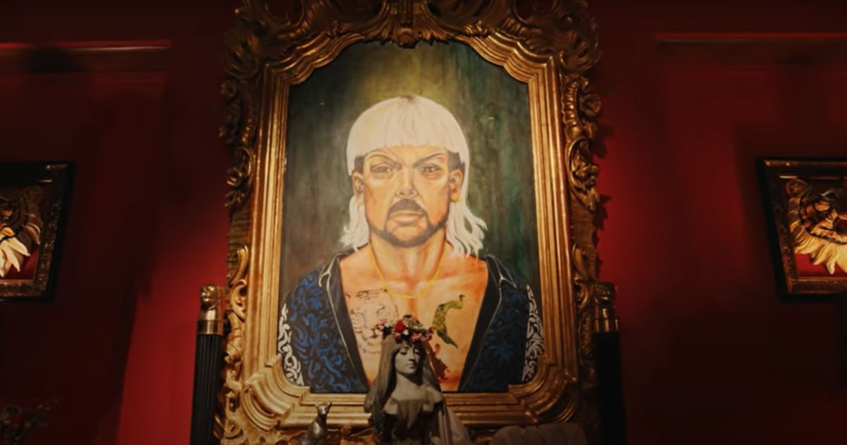A disturbing painting of Joe Exotic to haunt your nightmares from Tiger King Season 2