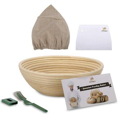 FOTEMIX Bread Proofing Basket (5 Pieces)