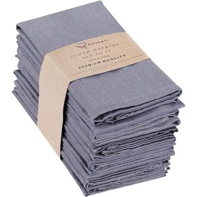 Ruvanti Kitchen Cloth Napkins (12-Pack)