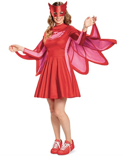 Adult Owlette costume on woman