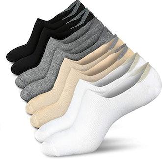 wernies No Show Non Slip Socks (4/8 Pairs)