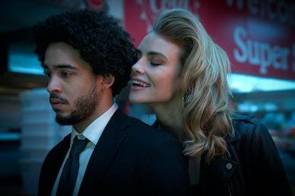Jorge Lengeborg Jr. as Benny and Lucy Fry as Zoe in 'Night Teeth'