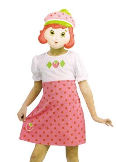 Strawberry Shortcake costume dress and mask set