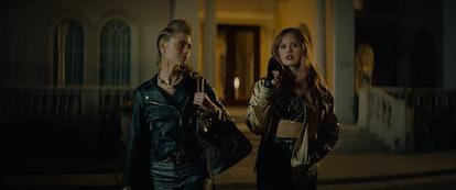 Lucy Fry as Zoe and Deborah Ryan as Blaire in 'Night Teeth'