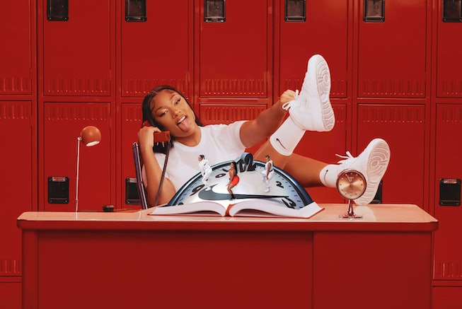 Megan Thee Stallion starring a Nike campaign.