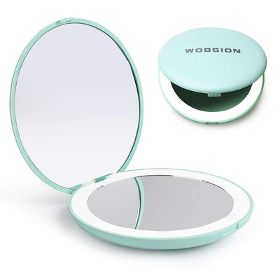 Wobsion LED Lighted Travel Makeup Mirror