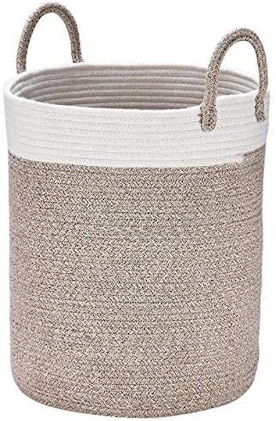 La Jolie Muse Tall Cotton Rope Basket