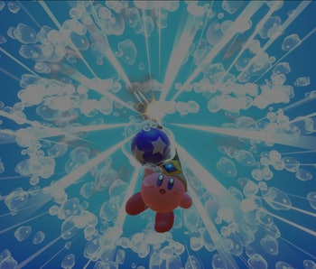 A screenshot from the 2018 Kirby game — Kirby All Star Allies