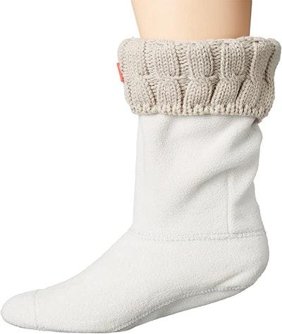 Hunter 6 Stitch Cable Short Boot Socks