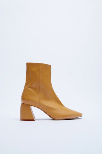 Leather Heeled Ankle Boots Zara