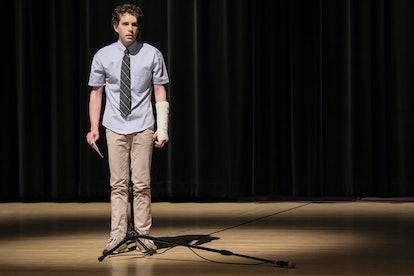 Ben Platt as Evan Hansen.