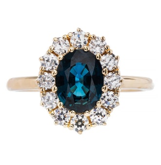 Trumpet & Horn's sapphire oval ring.