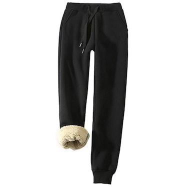 Yeokou Sherpa Lined Jogger Pants