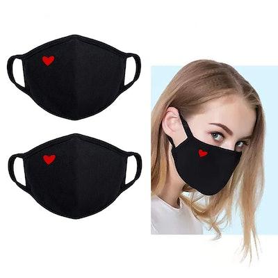 Yiiza Heart Reusable Face Mask (2-Pack)