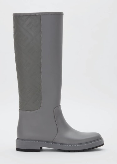 Fendi's gray FF leather riding boots.