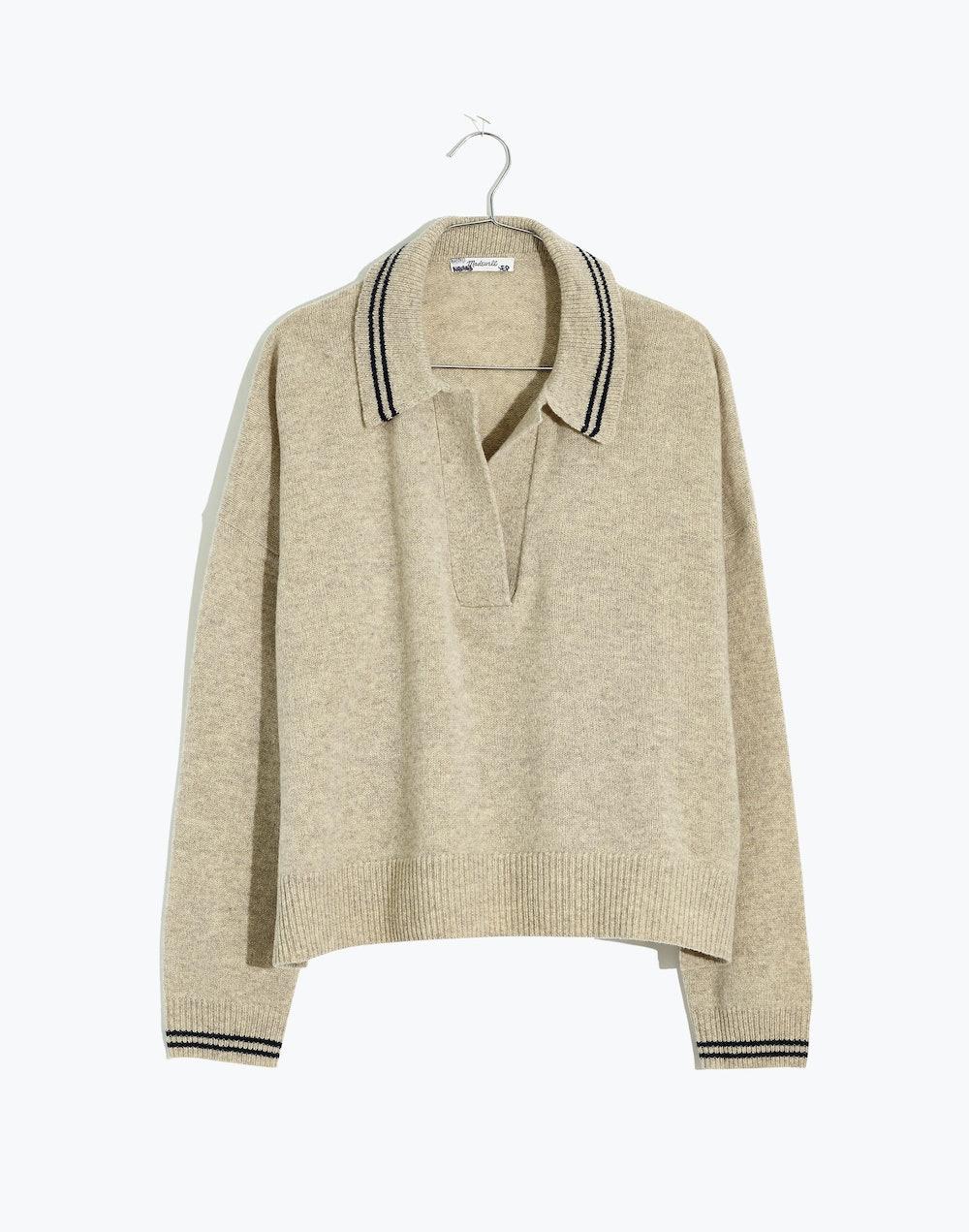 Tipped Davie Polo Sweater