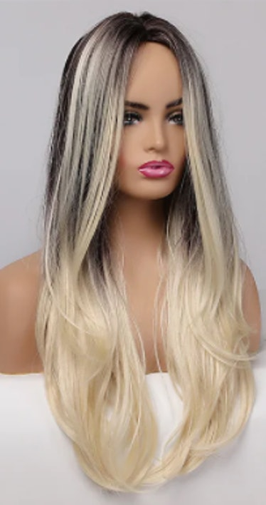 Cosplay Long Wavy Middle Part 0mbre