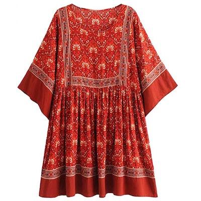 R.Vivimos Half Sleeve Tunic Dress
