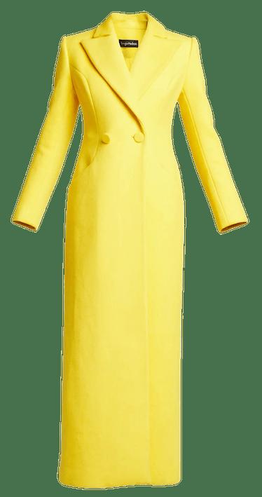 Long Wool-Blend Coat