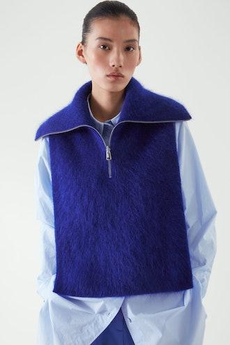 Open-Side Mohair Vest
