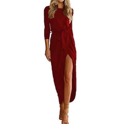 Qearal Belted Maxi Dress