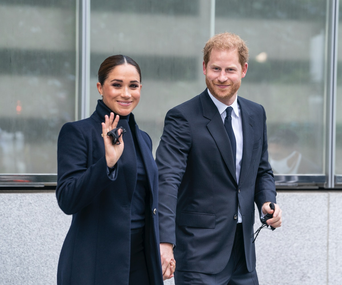 The Duke and Duchess of Sussex, Prince Harry and Meghan visit One World Observatory on 102nd floor o...